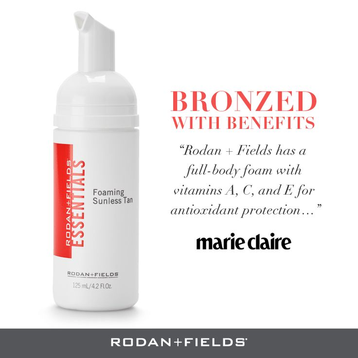 Show off an even, natural-looking tan without exposing your skin to the harmful, aging affects of the sun's UVA/UVB rays. Lightweight and oil-free, ESSENTIALS Foaming Sunless Tan is easy to apply and dries quickly on your skin. This dual-action sunless tanner contains antioxidant vitamins A, C and E to protect your skin from free radicals and RF-Dcell technology to quench the rate of cell hyper-proliferation for a longer lasting sunless tan. 125 mL/4.2 fl. oz.