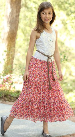 Bunnies Picnic - Hannah Banana Country Dress with Braided Belt - Boutique Clothing for Girls and Boys