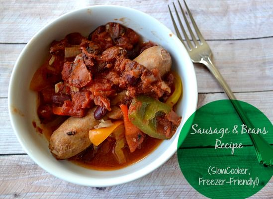 Sausage Rice & Beans - Easy and #Healthy #SlowCooker #Recipe