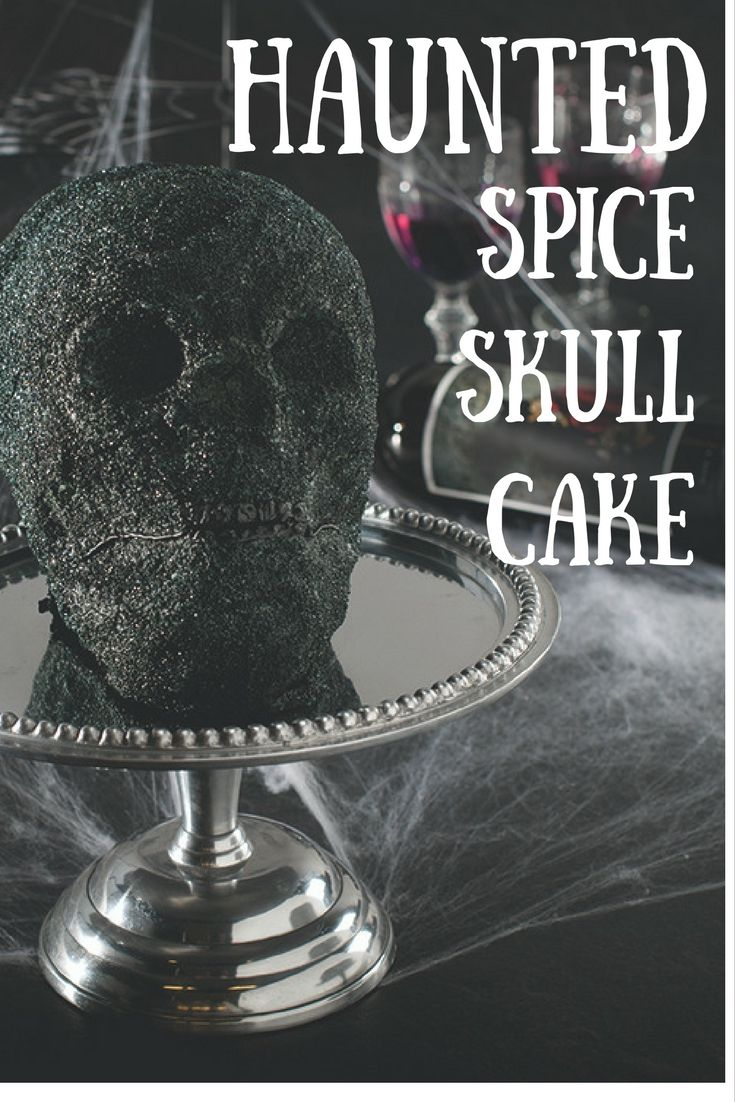 Try this Spooky Skull Spice Cake for your Halloween party using Nordic Ware's Skull Cake Pan!