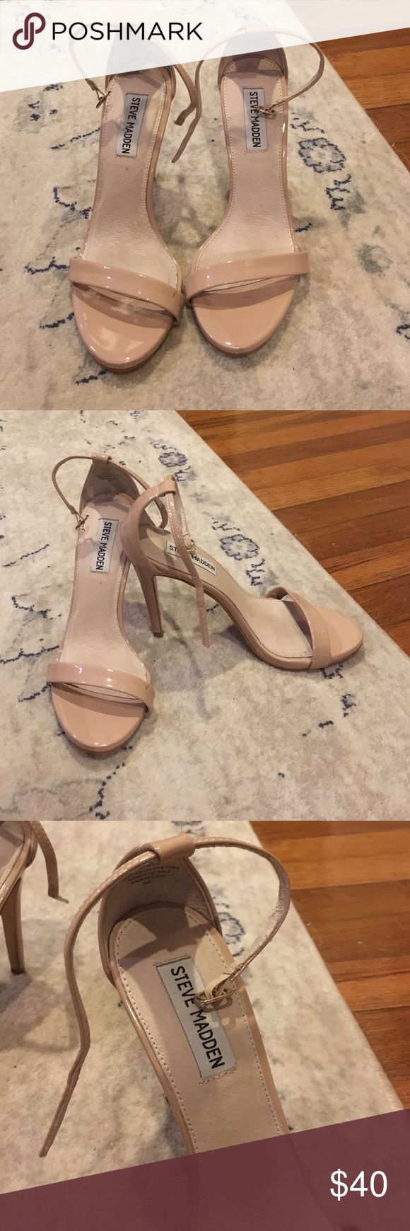Steve Madden, Stecy Two Piece Sandals, Nude Women's Steve Madden Two-Piece Stecy Sandal in nude. Worn twice. Great condition. Steve Madden Shoes Heels