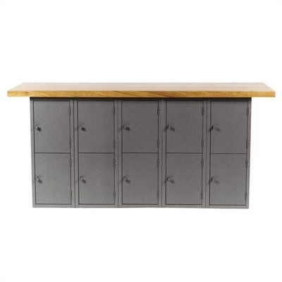 Vertical Locker Unit Wood Top Workbench