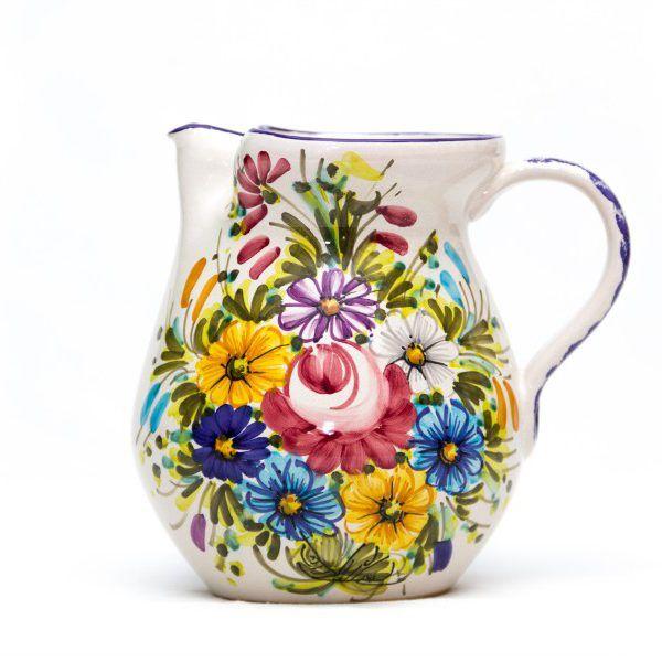 Brocca o caraffa in ceramica artigianale Fioraccio - Liberati