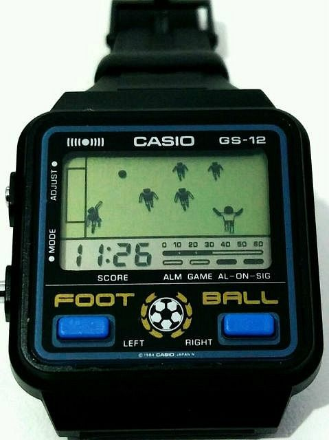 Casio GS-12 Football Watch from 1984