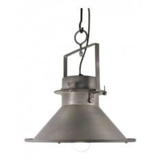 Industrilampe i metal - grå 1995kr