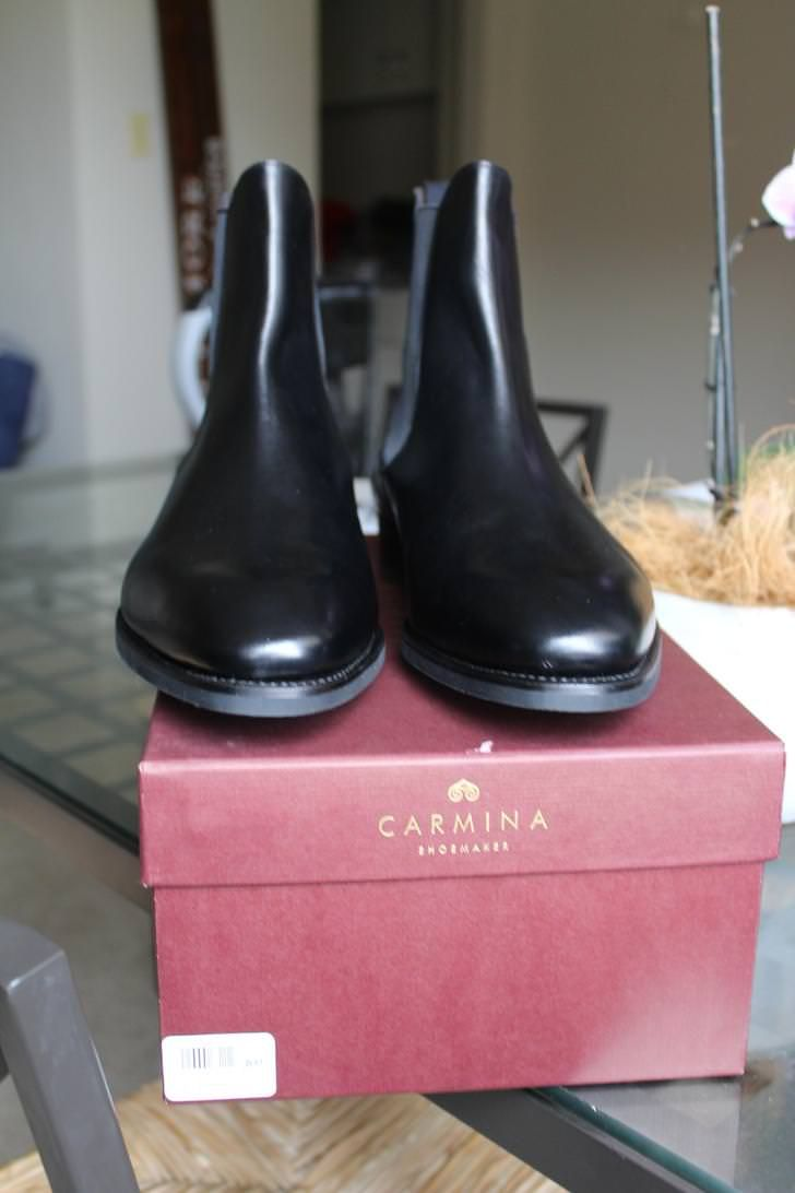 Carmina 80216 Black Calf Chelseas Chelsea Boots Boots