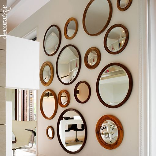 Decorar con espejos de pared espejos mirrors pinterest for Espejos de pared redondos