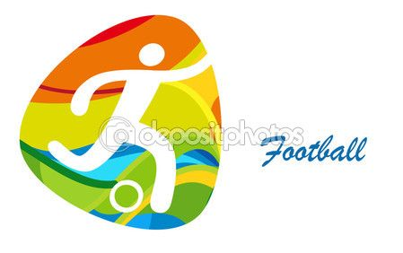 Football Olympics Games. Rio 2016 Sport Summer background. Football Brazil…