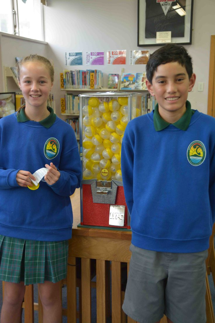 To strengthen our libraries ability to enhance our reading programme we have added a new poetry section. A gumball machine that dispenses poems when a token is placed in the slot is now available when classes visit the library. The idea comes from one set up in a small shop in San Francisco called Bibliohead Bookstore. Teachers can hand out a token to a deserving student during their weekly library visit so they can go to the gumball machine and received a poem.