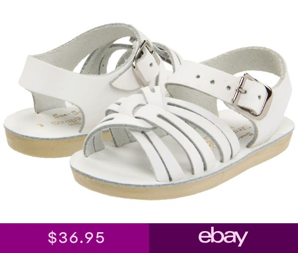 cb4470c916bb NEW INFANT TODDLER SALT WATER SANDAL STRAP WEE 2103 WHITE SUN-SAN BY HOY  SHOES