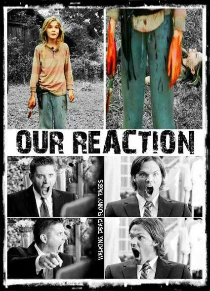 That was totally my reaction! This is awesome though supernatural and the walking dead together!