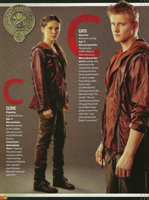Cato and Clove in People Magazine: Hungergames Such, The Hunger Games Cato, Isabel Fuhrman Hunger Games, Career, Clato Fans, Hungar Games, Isabelle Fuhrman, People Magazine, Clove