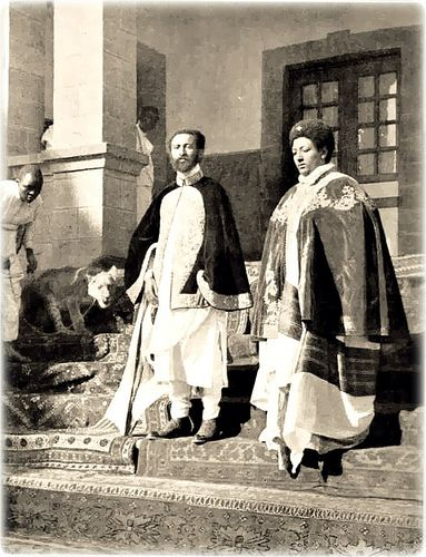 Emperor Haile Selassie I, and Empress Menen with a lion by Kwadwo Kwarte, via Flickr