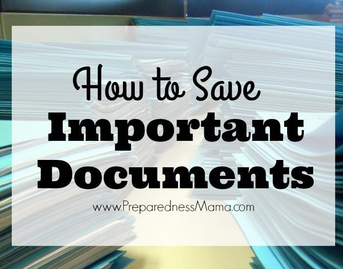 3 ways to save important documents + a downloadable master sheet | PreparednessMama