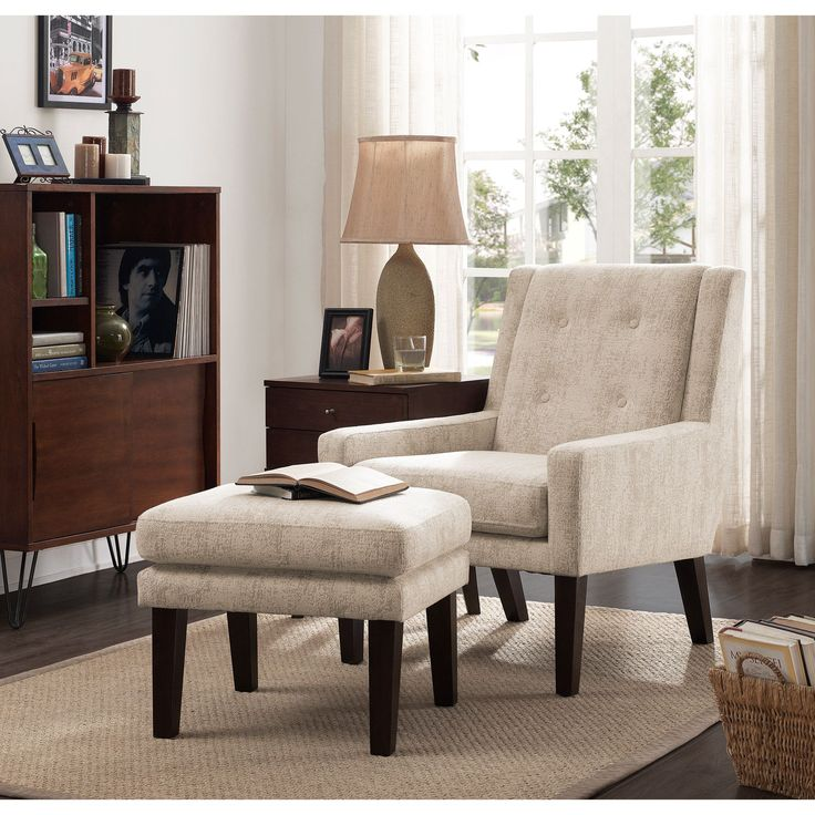 Lounge in luxury in this Oscar chair and ottoman set  This subtle wingback  chair and. 17 best ideas about Chair And Ottoman on Pinterest   Chair and
