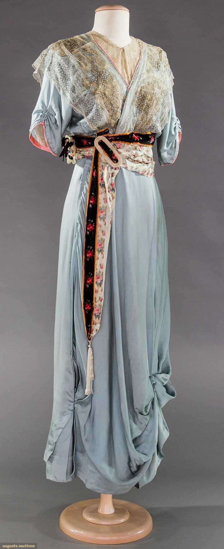 SKY BLUE EVENING GOWN, 1910-1912