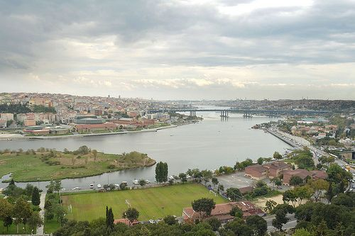 Golden Horn as seen from Pierre Loti Cafe, Istanbul, Turkey