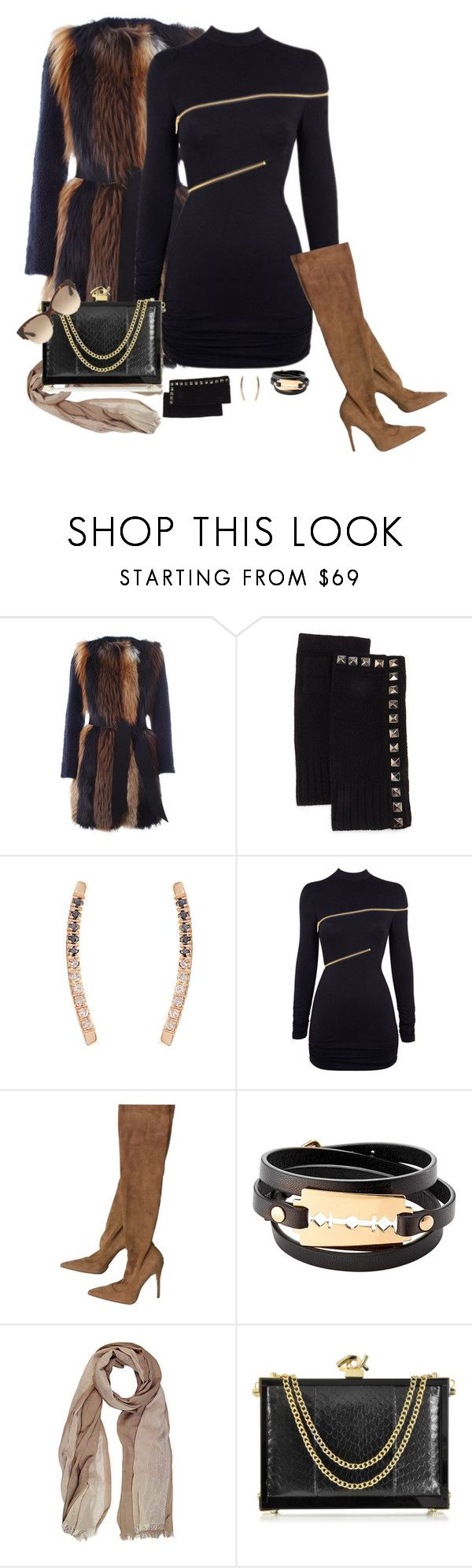 """""""Dance All Night"""" by shadedlady ❤ liked on Polyvore featuring BLANCHA, Neiman Marcus, Loren Stewart, Agent Provocateur, Manolo Blahnik, McQ by Alexander McQueen, Saachi, Dsquared2 and Prada"""