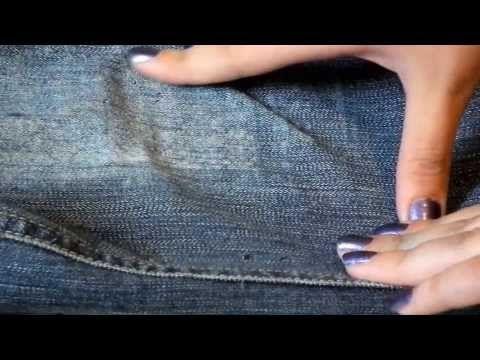 DIY: Boyfriend jeans + как красиво порвать джинсы - YouTube