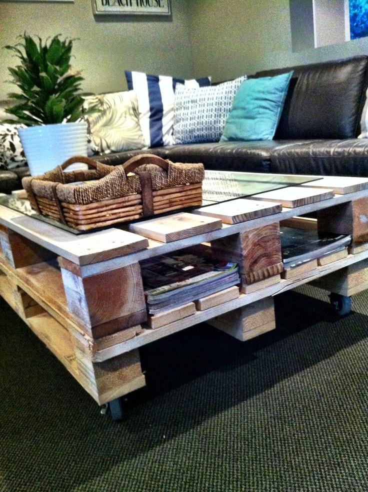 Meer dan 1000 idee n over pallet salontafels op pinterest for White pallet coffee table