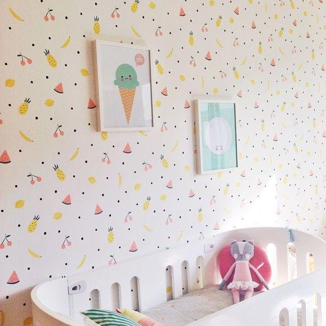 Super Fun Watermelon Wallpaper #kids #decor