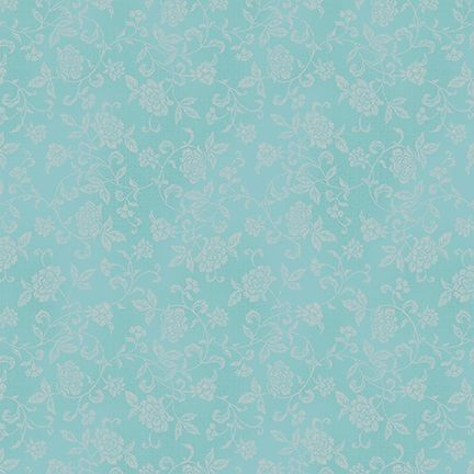 4526-647 Shiki Grey Floral on Aqua