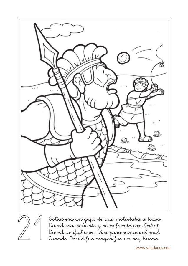 Www Salesianos Edu Goliat Era Un Gigante Que Molestaba A Todos David Era Valiente Y S Atividades Biblicas Para Criancas Historias Biblicas Desenhos Biblicos