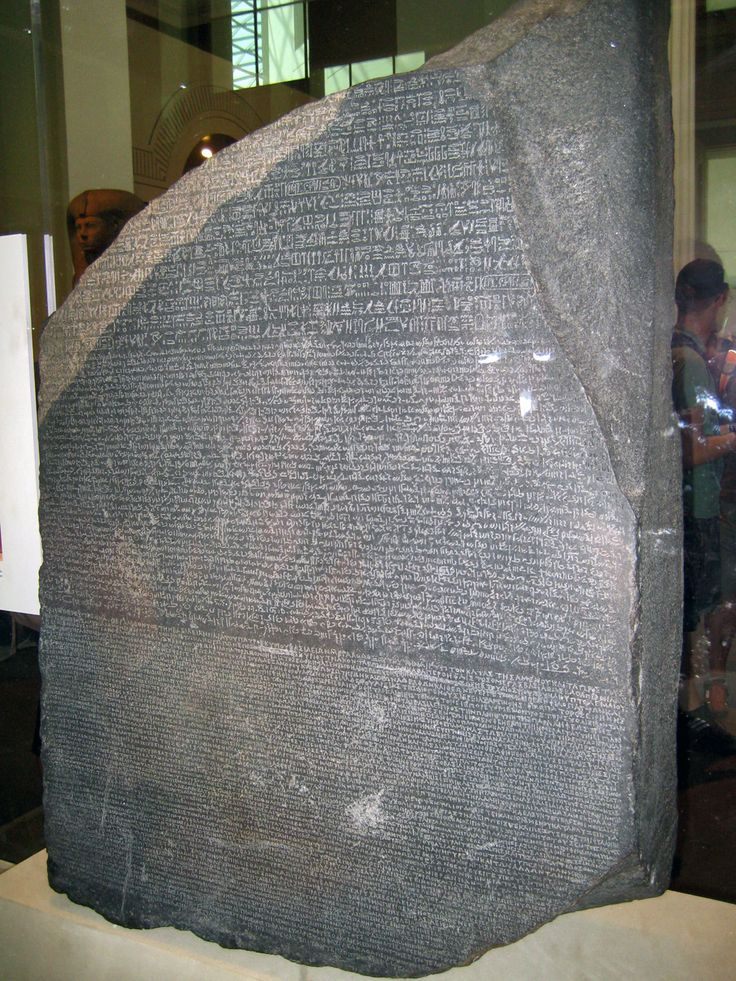 La Piedra Roseta En El British Museum De Londres Objetos