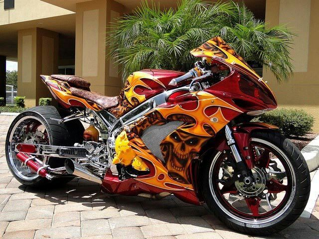 Sick Custom Street Bike   #Follow me on Bikes If You Like What You See 4 Way More ! ¡ !