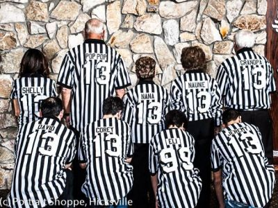 Eli's immediate family all wore referee shirts from Woodbury Sports complete with their names on the back!