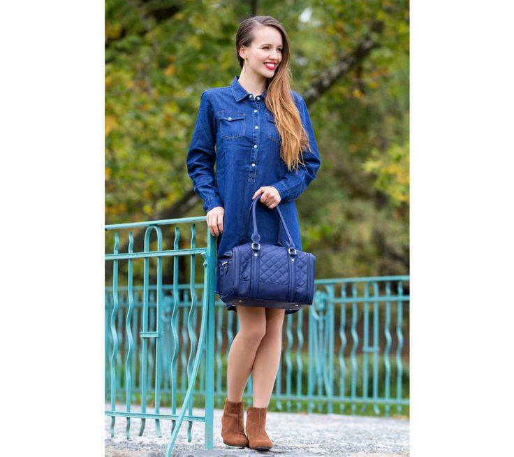 Asymetrické džínové šaty | modino.cz #modino_sk #modino_style #style #fashion #newseason #autumn #fall
