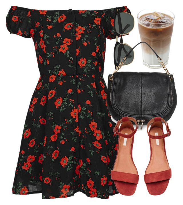 Untitled #6755 by laurenmboot on Polyvore featuring polyvore, fashion, style, Topshop, MANGO, Ray-Ban and clothing