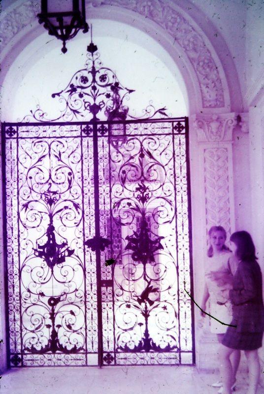 Железные ворота Большого дворца работы уральских мастеров. Ливадия. Крым