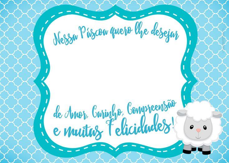 Cartão Bis Azul Páscoa Crista