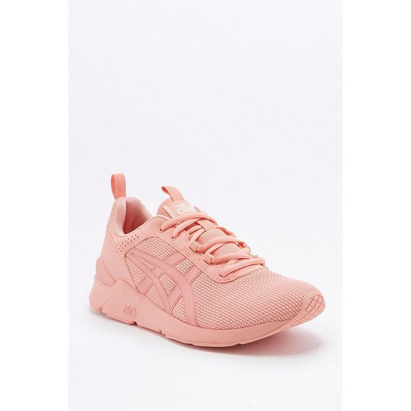 Asics Gel-Lyte Peach Trainers (€75) ❤ liked on Polyvore featuring shoes, peach, traction shoes, retro shoes, peach shoes, grip shoes and asics footwear