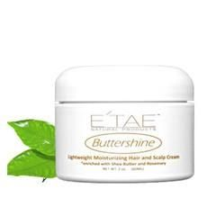 Buttershine Moisturizing Hair and Scalp Cream - 2oz • Heat Protectant • Prevents Dryness • Moisturizes hair and scalp • Smoothes Hair • Adds natural moisture •