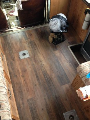 DIY RV / camper floor upgrades for less than $50 (+ some sore muscles)