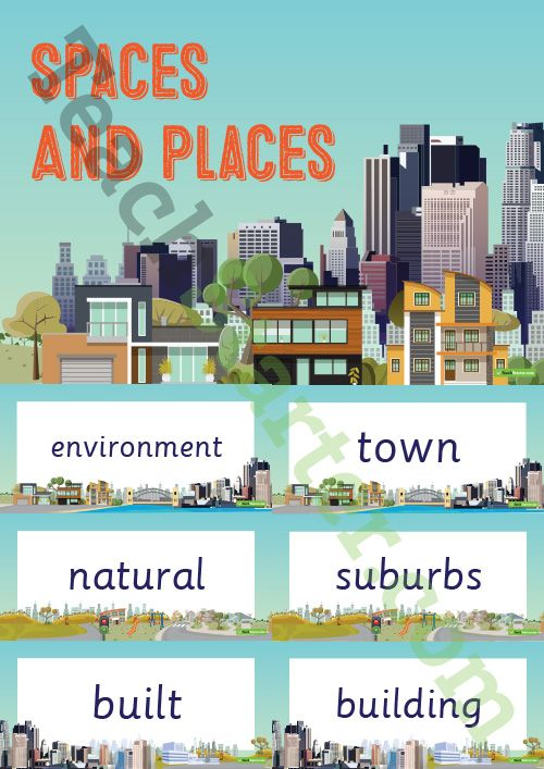 Spaces and Places – Word Wall Vocabulary Teaching Resource