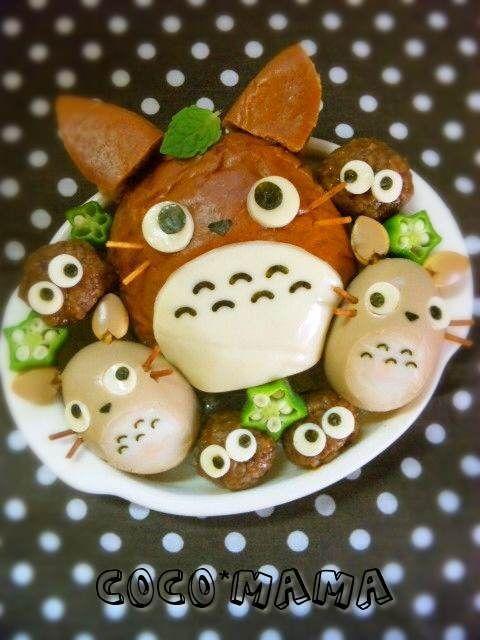 Totoro bun bento