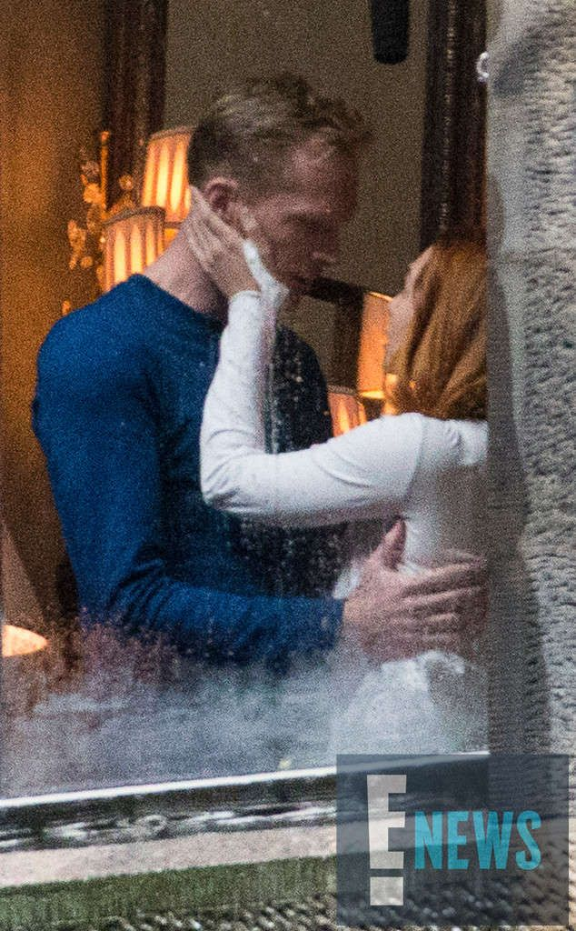 """Bettany, 45, and Olsen, 28, filmed the same scene """"eight or nine times,"""" according to an eyewitness. It began with Vision opening the window curtains using his special abilities. Moments later, Scarlet Witch appeared by his side """"and they get very close and finally kissed."""" Romantic tension between the characters has been building since Vision became a sentient being in 2015's Avengers: Age of Ultron—and it intensified in 2016's Captain America: Civil War."""