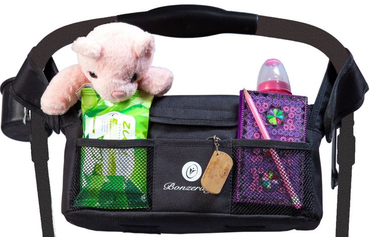 Amazon.com: Stroller Organizer By Bonzerdigs - Cup Holder for Stroller Accessories - Multipurpose Diaper Bag - Perfect Baby Shower Gift: Baby