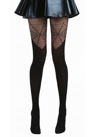 37b2d1746f5 Halloween cobweb tights for all the vampire girls, witches and wannabe  Wednesday Addams out there! Pamela Mann Cobweb Over The Knee Tights, £9.99