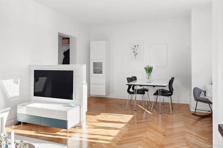 Smart rumsavdelare för placering av TV:n.