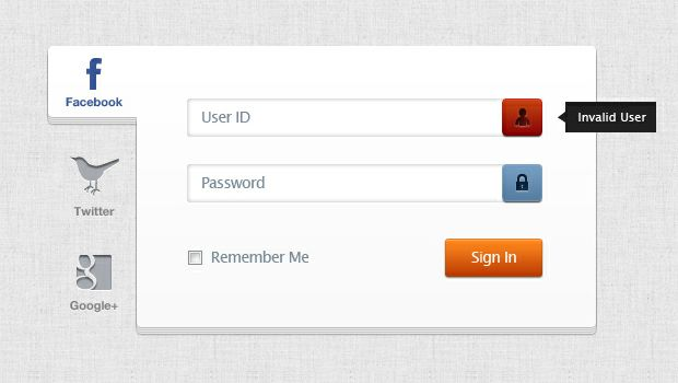 login-web-page-template