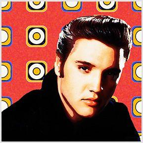 Elvis Presley -  Quadrinhos confeccionados em Azulejo no tamanho 15x15 cm.Tem um ganchinho no verso para fixar na parede. Inspirados em cantores e compositores internacionais. Para entrar em contato conosco, acesse: www.babadocerto.c...