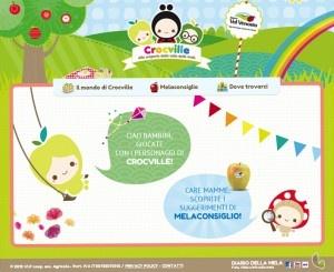 www.crocville.com per insegnare ai più piccoli le regole per una sana e corretta alimentazione