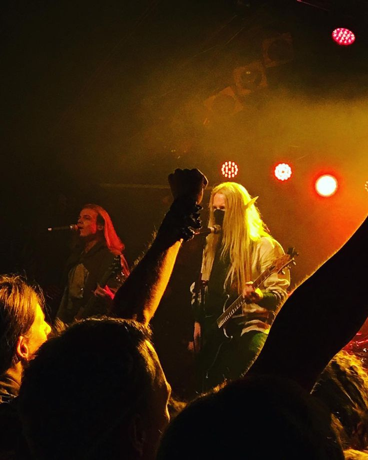 Twilight Force ⚫ Photo by Frida Lundqvist ⚫ Hamburg 2016 ⚫ #TwilightForce #music #metal #concert #gig #musician  #Born #Aerendir #guitarist #guitar #bassist #bass #microphone #ninja #mask #armour #armor #microphone #elf #tabard #playing  #leather #blond #longhair #show #photo #fantasy #magic #cosplay #larp #man #onstage #live #celebrity #band #artist #performing