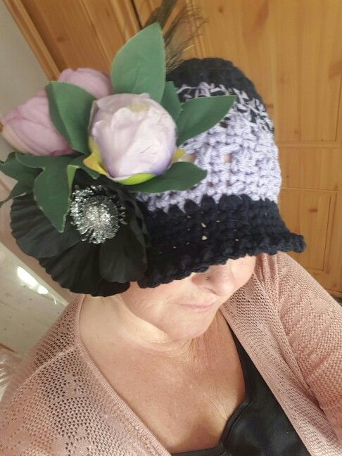Ladies crochet hat sizes 5- adult crocheted by me