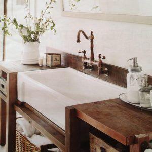 Farmhouse Sink Bathroom Console