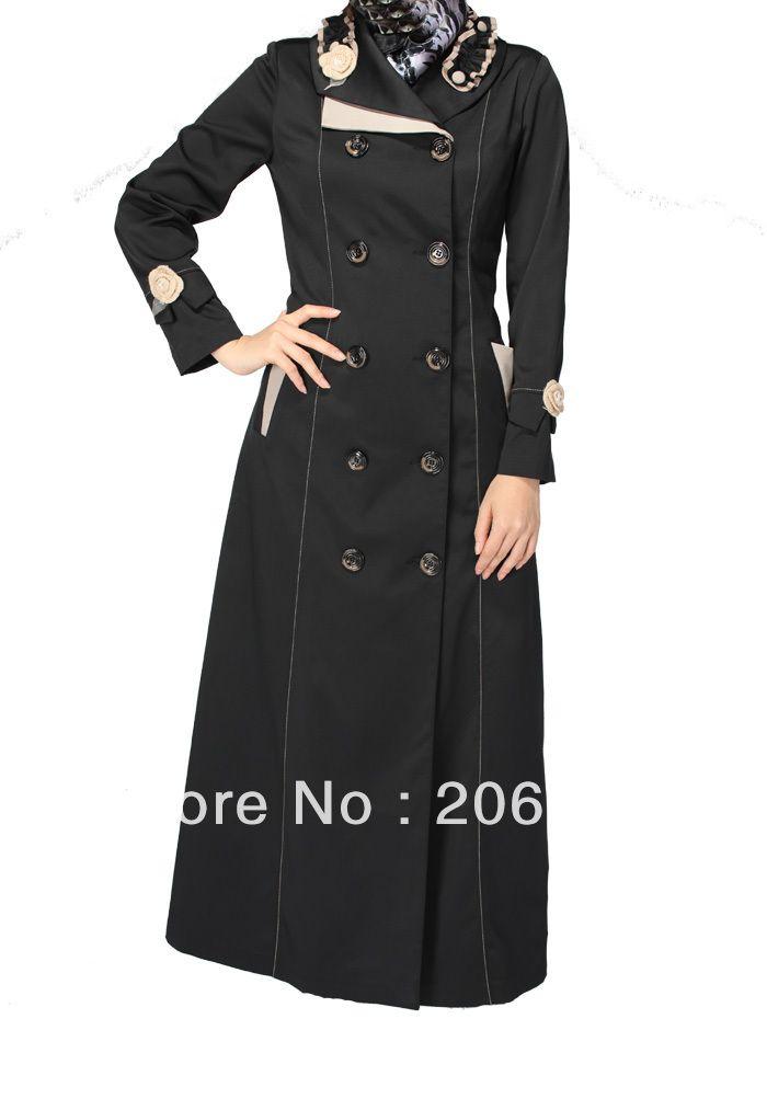 Islamique robe, turque féminine's jilbab, manteau tk 268b série( moqlivraison: 1piece),( abaya, jilbab en